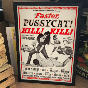 - FRAMED CULT EXPLOITATION MOVIE POSTER - Faster, Pussycat! Kill! Kill! (Eve Productions, 1965).
