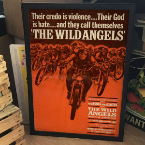 - FRAMED BIKERS EXPLOITATION MOVIE POSTER - The Wild Angels (American International, 1967)