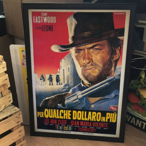 - FRAMED WESTERN MOVIE POSTER - Per Qualche Dollaro in Più (PEA, 1965).  Franco Fiorenzi Artwork
