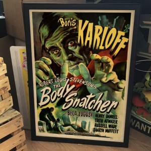 - FRAMED HORROR CLASSIC MOVIE POSTER - The Body Snatcher (RKO, 1945). William Rose Artwork.