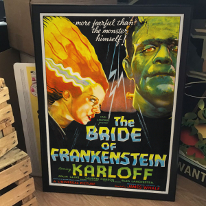 - FRAMED HORROR CLASSIC MOVIE POSTER - The Bride of Frankenstein (Universal, 1935)