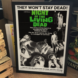 - FRAMED CULT HORROR MOVIE POSTER - Night of the Living Dead (Continental, 1968)