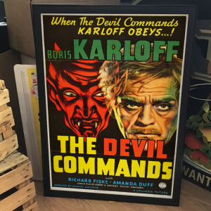 - FRAMED HORROR CLASSIC MOVIE POSTER - The Devil Commands (Columbia, 1941)
