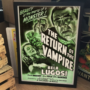 - FRAMED HORROR CLASSIC MOVIE POSTER - The Return of the Vampire & Other Lot (Columbia, 1949)
