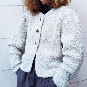 - Écru cardigan, wool , onesize