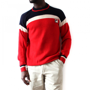 Men's Fila Red White And Blue New Wool Sweater