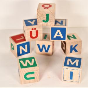 - Cubi Alfabeto in legno