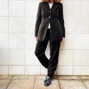 - velvet suit, brown rayon color, sz 42