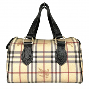 - BURBERRY BAULETTO IN PELLE STAMPA CHECK