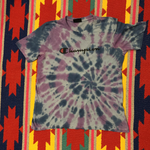 T-Shirt Vintage | uomo | CHAMPION | L | tiedye by vintagefarm
