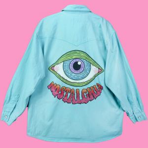 - Camicia turchese denim Arizona S/M