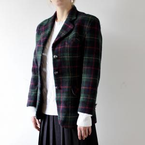 - Women's Swish Green Navy Tartan Blazer