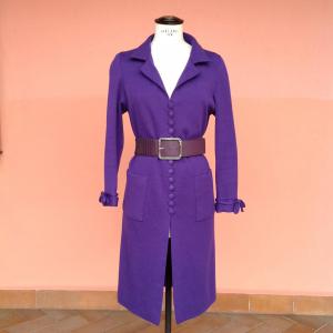 - Abito handmade in lana viola