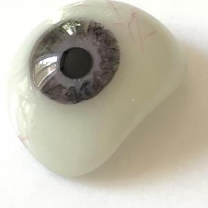 occhio umano, protesi oculare in vetro, porcellana e vetro, dipinto a mano, primi del '900, Francia