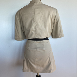 - Completo mini giacca e mini gonna da giacca da uomo vintage