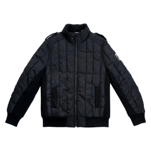 - 90s Knitted Insert Quilted Jacket | Piumino con Inserti in Maglia anni 90
