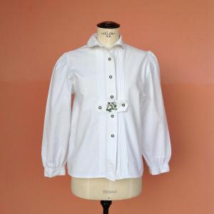 - Camicia tirolese con ricamo Tg. 40/42