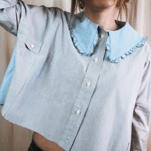 Camicia Colletto Azzurro