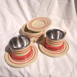 Set vintage tazzine termiche
