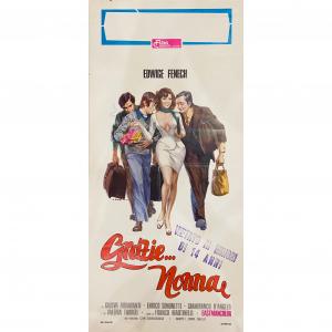 - Locandina di Cinema Originale d'Epoca - Grazie Nonna anno 1975