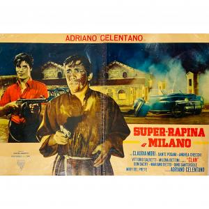 - Fotobusta Originale d'Epoca - Super-Rapina a Milano (Adriano Celentano) 1964
