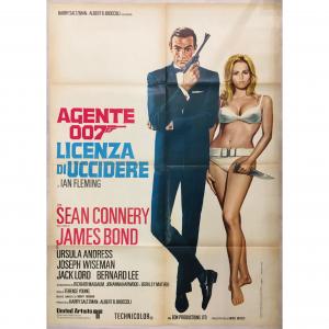- 2 Fogli di Cinema originale d'epoca Agente 007 - Licenza di uccidere