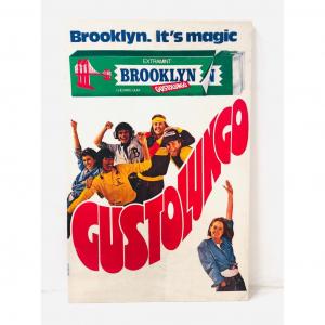 Cartellone Pubblicitario Brooklyn Gustolungo anni '80
