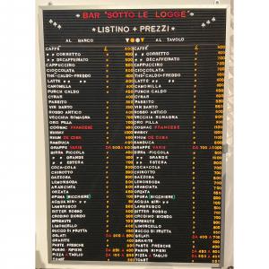 Listino prezzi bar Sotto Le Logge