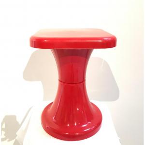 Sgabello in plastica anni '70 (Rosso)