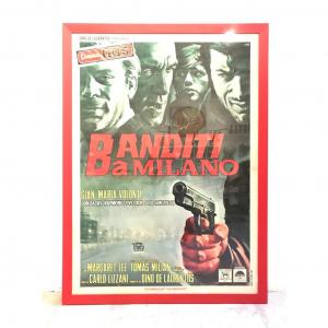 - 2 Fogli di cinema originale d'epoca Banditi a Milano 1968