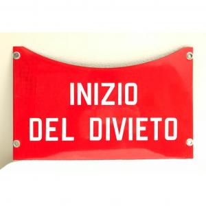 - Insegna INIZIO DEL DIVIETO