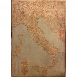 Cartina Italia anni '80