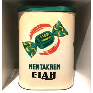 Scatola in latta Caramelle Mentakrem Elah anni '50 - '60