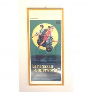 - Locandina Di Cinema Originale D'Epoca La Ragazza Supersprint 1961
