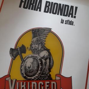 - VINTAGE - Specchio pubblicitario Birra VIKINGEN