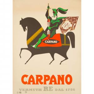 - Manifesto pubblicitario Carpano il Re dei Vermouth - Armando Testa