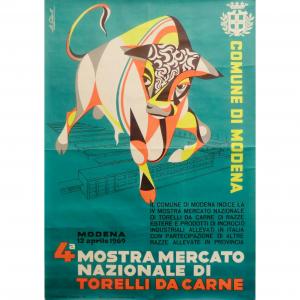 - Manifesto pubblicitario 4° Mostra Mercato nazionale di torelli da carne