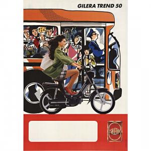 - Manifesto pubblicitario originale d'epoca - Gilera Trend