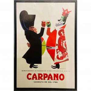 - Cartonato pubblicitario Carpano Napoleone - Armando Testa anni '70