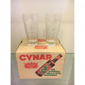 - Confezione 6 bicchieri Cynar anni '60/'70