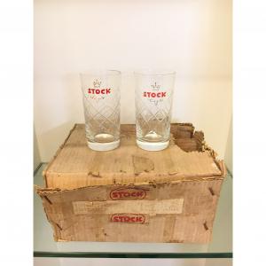 - Confezione 6 bicchieri Stock anni '60