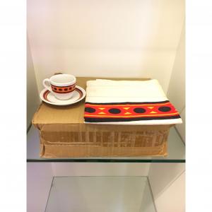 - Confezione 12 tazzine con tovaglietta Caffè Paulista anni '70