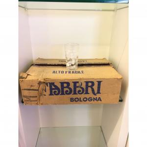 - Confezione 24 bicchieri Amarena Fabbri anni '70