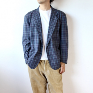- Men's Yves Saint Laurent Bluette Checked Cotton Blazer