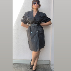 - Spolverino/ jacket dress Biagiotti