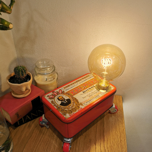 - Lampada scatola Krumiri anni 60