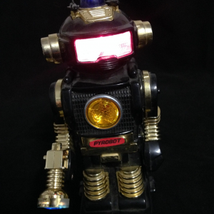 Vintage Robot, plastica, funzionante, anni '80, made in Hong kong