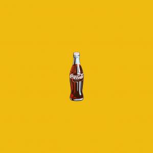 - Bottiglia Coca Cola a muro
