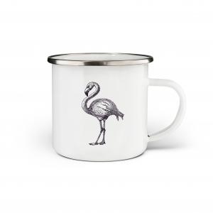 Flamingo Enamel Mug