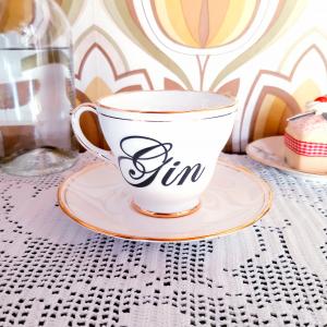- Tazza da Tè Inglese Vintage Gin